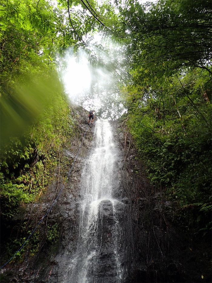 Rapelling Ka'au Crater Falls