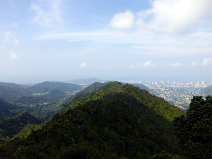 Hiking Kolowalu Trail to Olympus to Manoa Middle