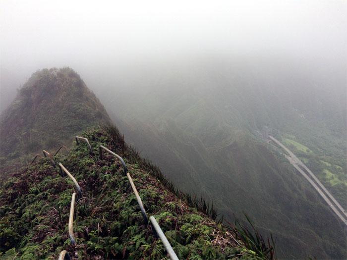Hiking Kulana'ahane Trail to Moanalua Powerlines