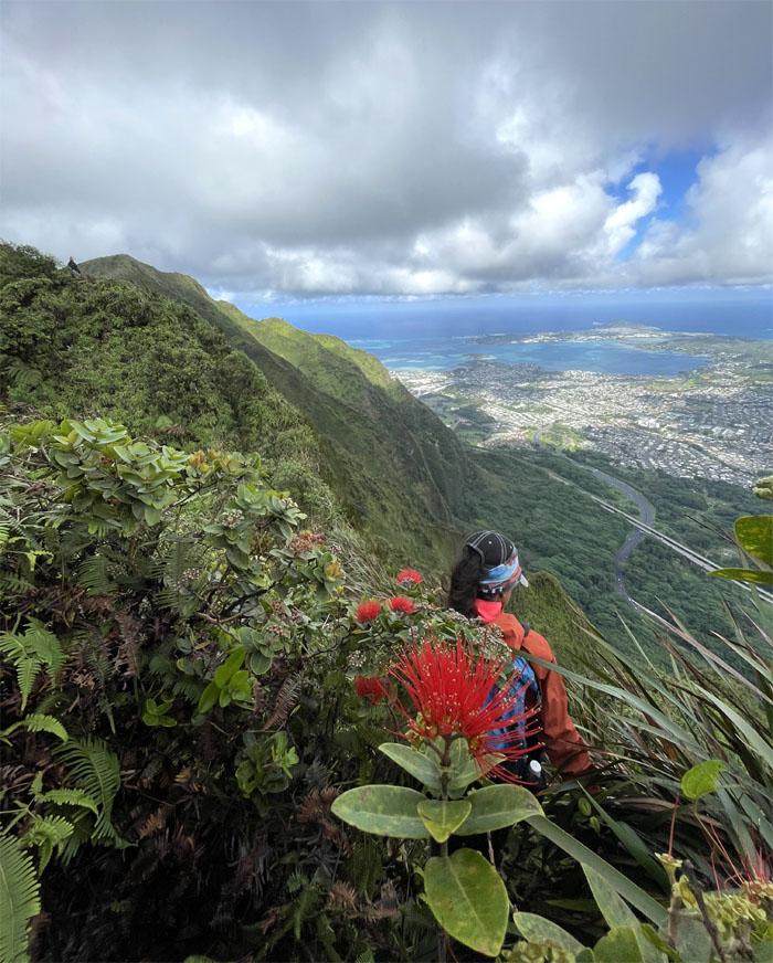 Hiking Kalihi Saddle (Powerlines) to Tripler Summit