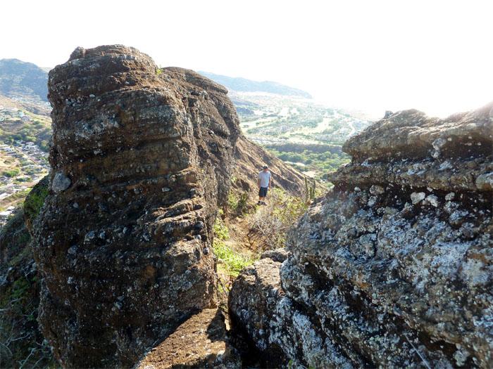 Crater rim wall