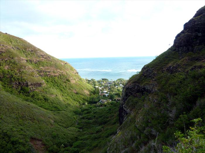 View towards the ocean
