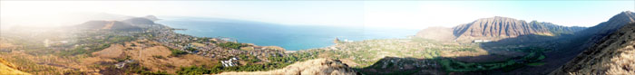 Panoramic view of Waianae and Makaha Valleys