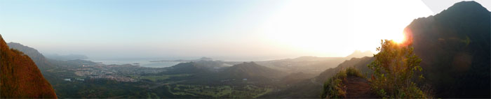 Panaromic view of Kaneohe