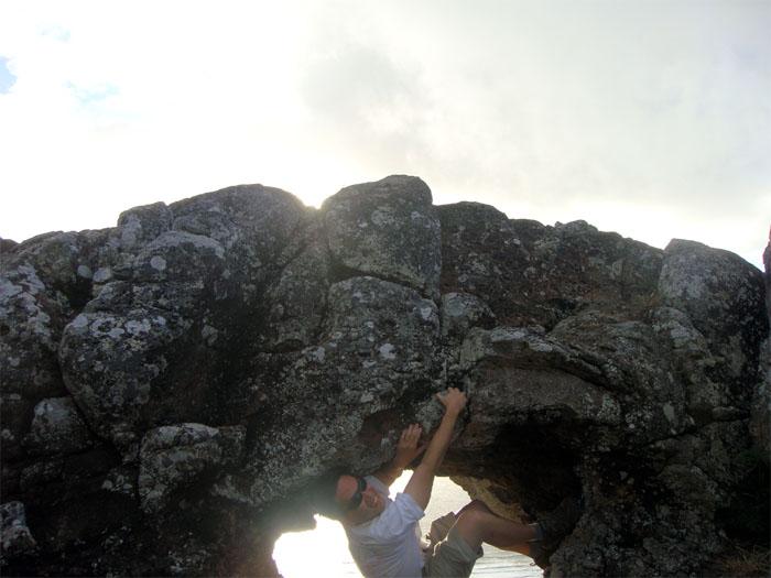 Rock climbing the Makapu'u Puka - Not