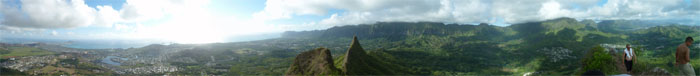 Panoramic view from Olomana