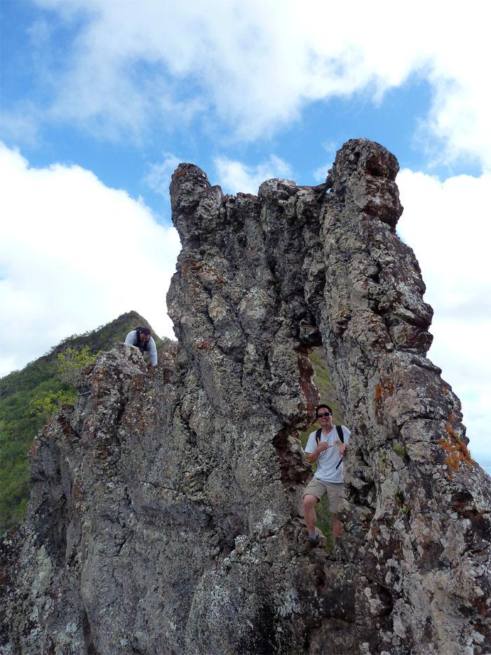 Keyhole rock formation
