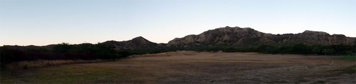 Panoramic view of Diamond Head