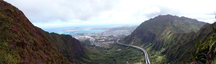 Panoramic view from Haiku Ridge