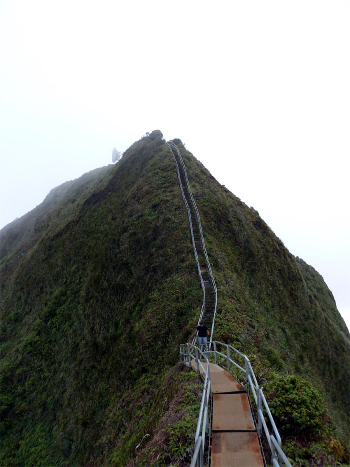 Coming down Haiku Stairs