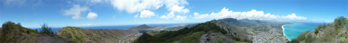Panoramic view of Hawaii Kai and Waimanalo