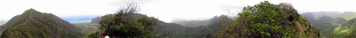 Panoramic view from the top of True Manamana