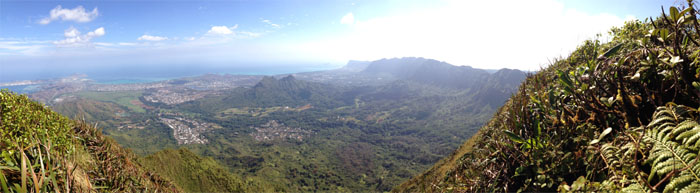 Panoramic view from the summit of Konahuanui or K1