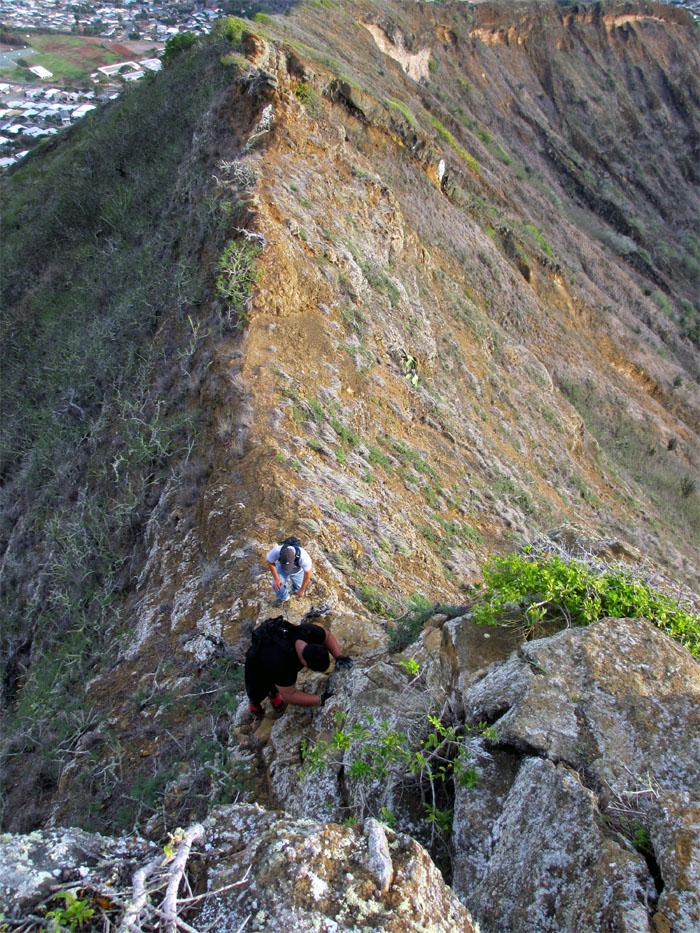 A little climbing