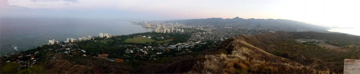 Panoramic view from Diamond Head