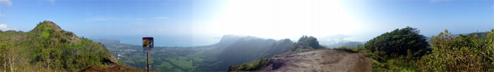 Panoramic view from Kuli'ou'ou Summit
