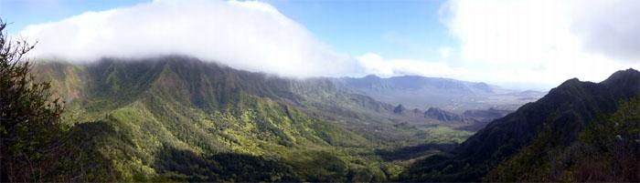 Panoramic view from No Name Peak