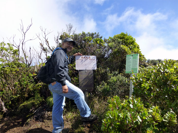 Entering Mount Ka'ala Reserve