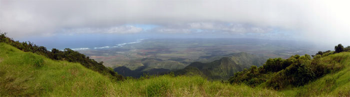 Panoramic view of North and Central Oahu
