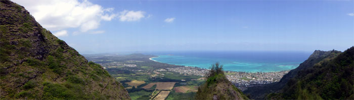 Panoramic view of Waimanalo