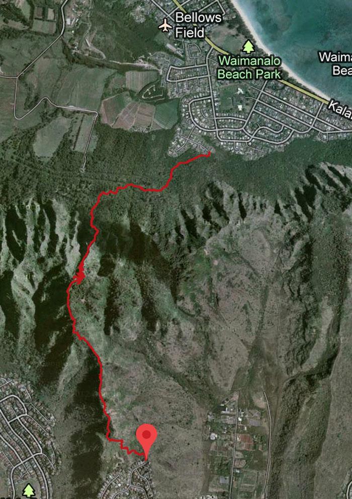 GPS Tracks Mariner's Windward to Mariner's Ridge