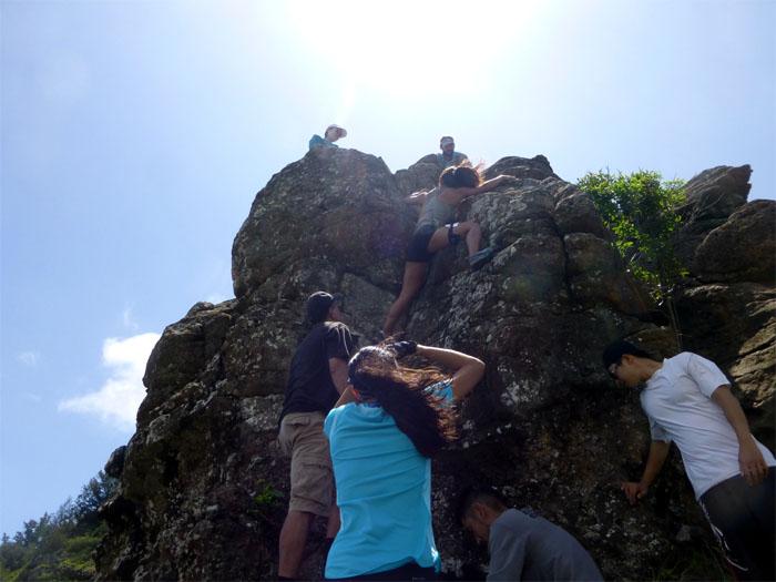 Falling rocks!