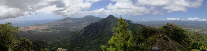 Panoramic view of Leeward and beyond
