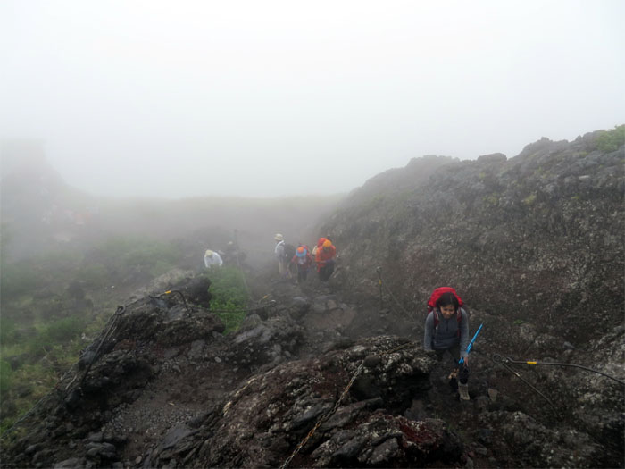 Mari rock climbing