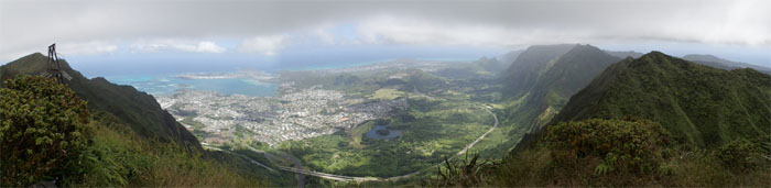 Panoramic view of Windward Oahu