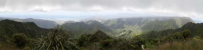 Panoramic view of Southwest Oahu