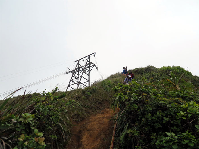 Coming down the powerline ridge