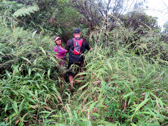 Going down Halawa ridge