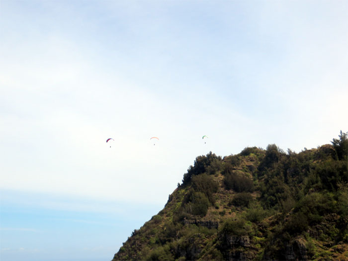Nice day for paragliding
