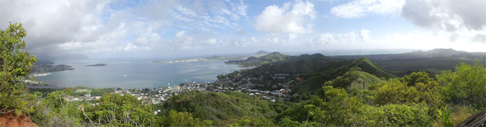 Panoramic view of the Windward side