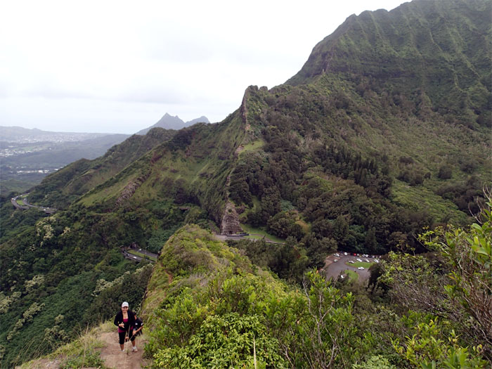 Pali Notches and Olomana