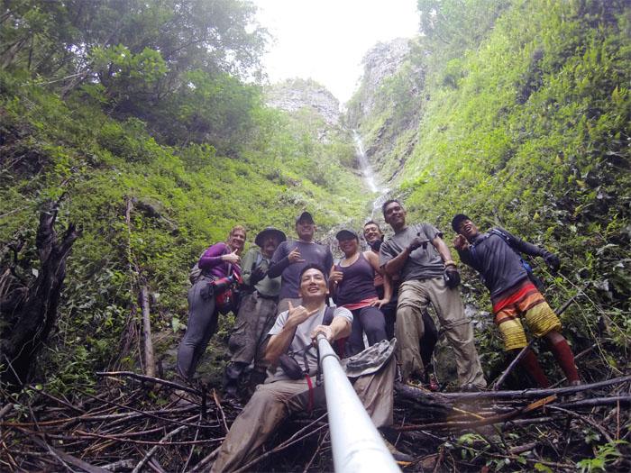 Hilltop waterfall