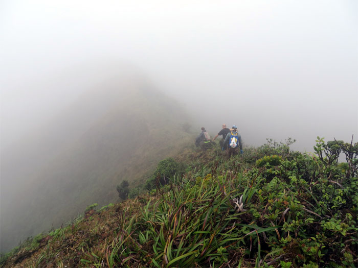 Going down the wrong ridge