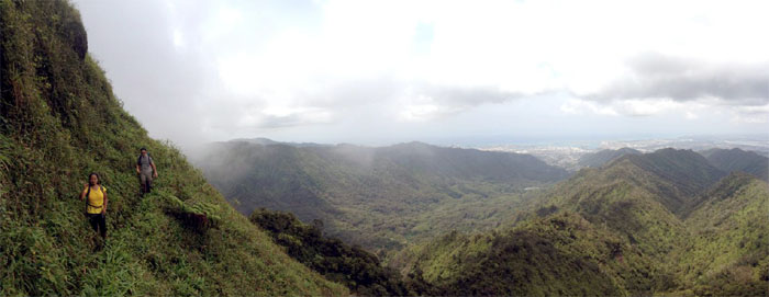 Panoramic view of the Leeward side