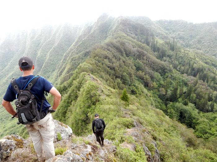 Hiking forward