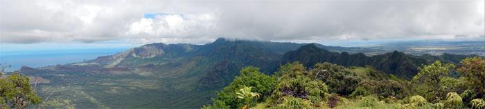 Pu'u Kaua summit view
