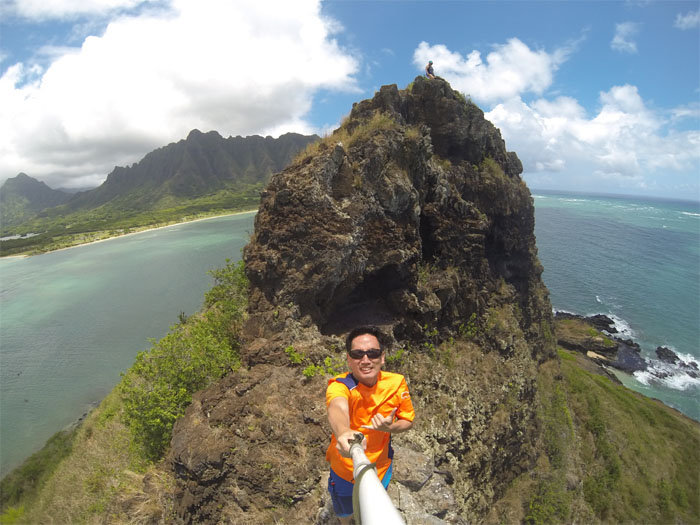 Looking back towards Kualoa