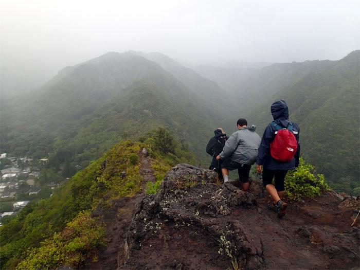 Mau'umae ridge