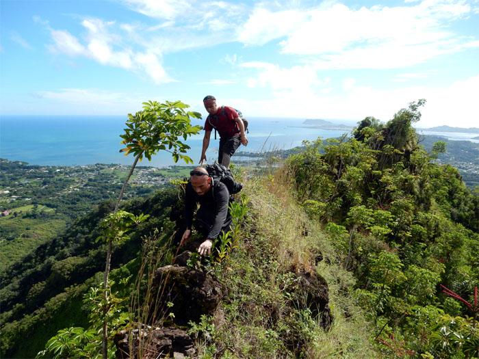 Climbing across
