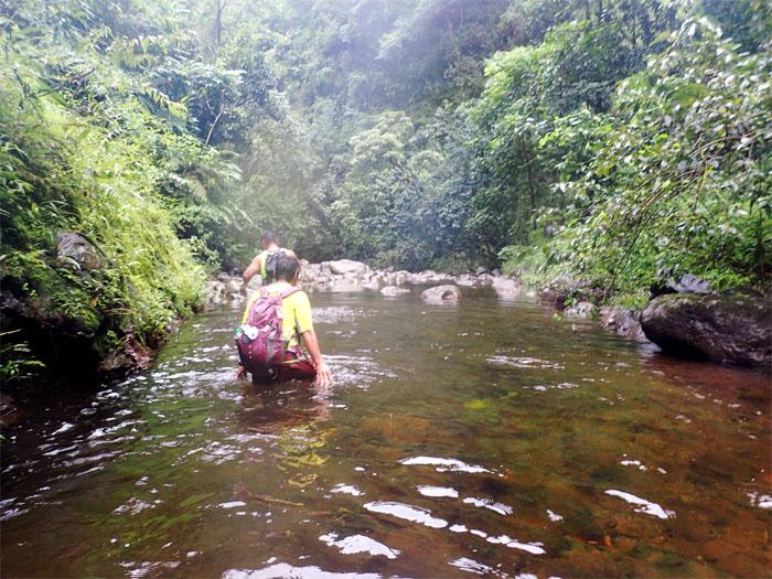 Stream wading