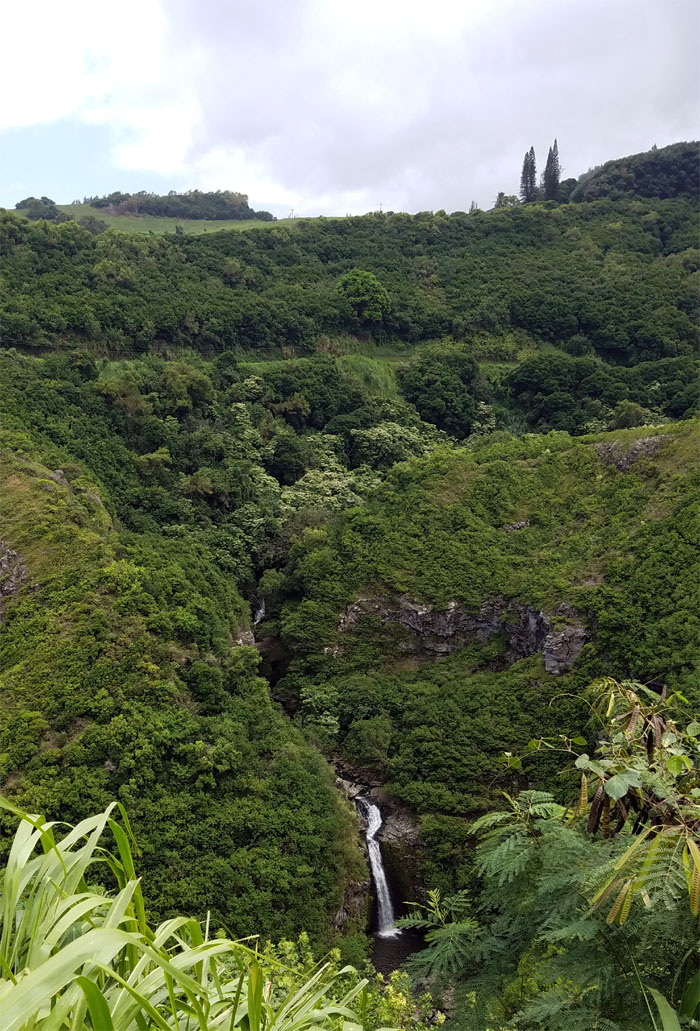Lower Makamakaole Falls