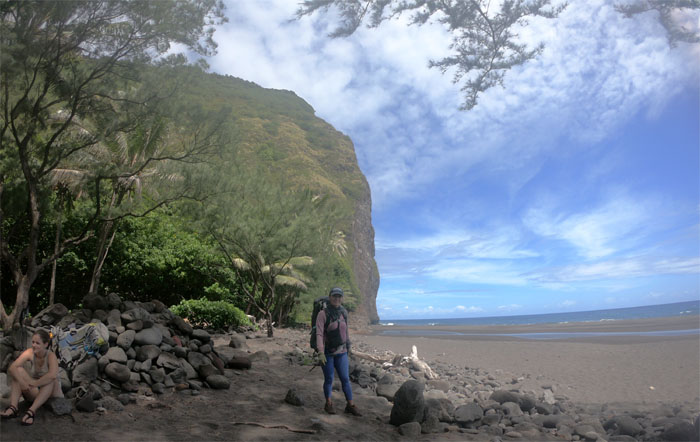 Waipio Black Sand Beach South